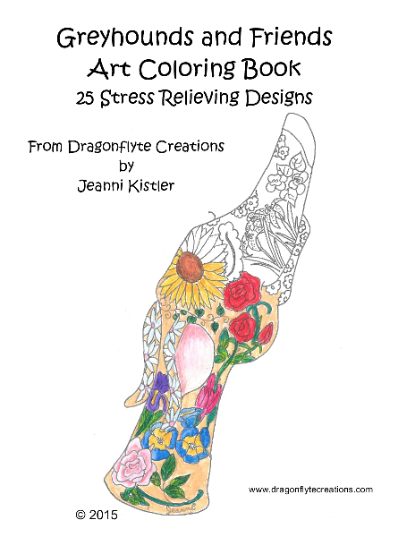 greyhounds and friends art coloring book