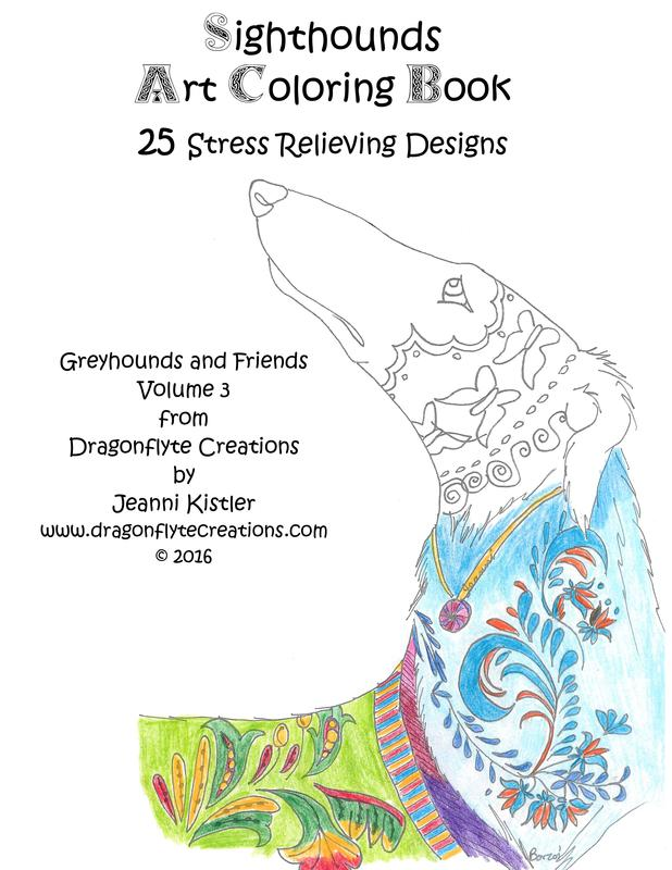 sighthounds art coloring book